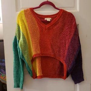 Rainbow lux lane sweater XS used